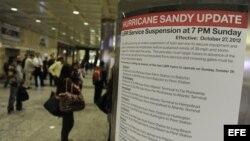 Preparativos para el paso de Sandy en New York