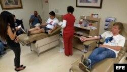 Donación de sangre en EEUU similar a la registrada tras 9/11