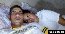 Eliécer Góngora Izaguirre, uno de los mencionados por los relatores de la ONU, aparece en esta imagen junto a su esposa Lariuska durante una huelga de hambre (Foto: Archivo).