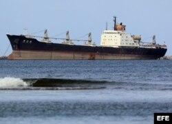 Fotografía del barco norcoreano Chong Chon Gang.