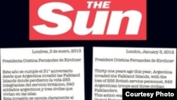 Carta del diario The Sun a la presidenta de Argentina