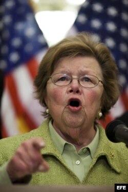 La senadora demócrata Bárbara Mikulski pide a Raúl Castro, la liberación de Alan Gross.