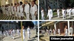 Damas de Blanco, en Matanzas, el domingo 25 de octubre. Foto: Iván Hernández.