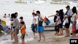 Turistas chinos.