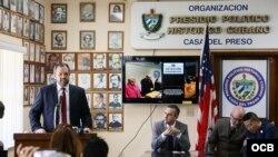 "Cenferencia de prensa ""Justicia por Cuba"""