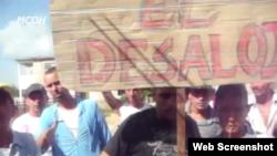 Reporta Cuba. Protesta en Buenaventura, Holguín.