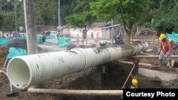 Trabajos de rehabilitación de redes hidráulicas en Camagüey.