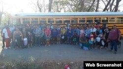 Migrantes cubanos detenidos en Honduras. (Foto: La Tribuna)
