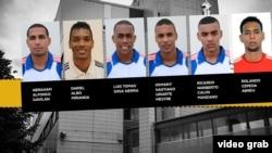 Los seis voleibolistas cubanosque fueron acusados de violación en Finlandia (mtv.fi)