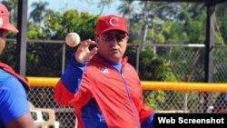 Roger Machado, manager de la selección cubana.