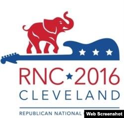 Logo de la Convención Nacional Republicana, en el Quicken Loans Arena de Cleveland, Ohio.