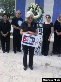 Silvia Iriondo, representante de la organización Mar por Cuba.
