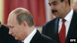 Los presidentes de Rusia, Vladímir Putin y de Venezuela, Nicolás Maduro. (Foto: Archivo)