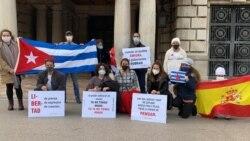 Cubanos en el exilio exigen respeto a los Derechos Humanos