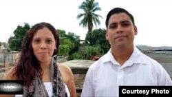 Carlos Amel Oliva y Katerine Mojena. (Foto tomada de sus perfiles de Facebook)