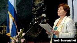 Caridad Diego Bello, jefa de la Oficina de Asuntos Religiosos del PCC. (Archivo)