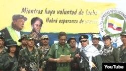 Iván Márquez junto con otros exlíderes de las FARC.