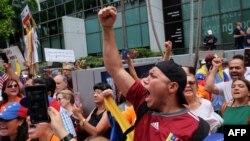Venezolanos protestan en Miami contra Nicolás Maduro. (Archivo)