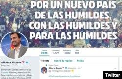 Imagen del perfil en Twitter del ministro de Consumo del nuevo gobierno español.