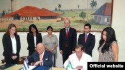 Firma de acuerdo de colaboración entre el CAF y el Banco Central de Cuba