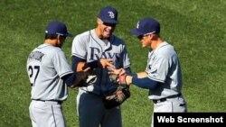 Rays de Tampa, equipo de la Liga Americana en las Grandes Ligas.