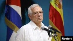 El canciller español en funciones, Josep Borrell, durante una conferencia en La Habana, el 16 de octubre, 2019. REUTERS/Alexandre Meneghini