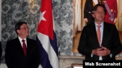 El Canciller cubano Bruno Rodríguez de visita en el Reino de los Paises Bajos