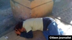 Reporta Cuba, mendigos. Foto: Ángel E. Escobedo.