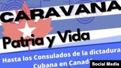 Cubanos en Canadá harán una caravana en contra de la dictadura este 7 de marzo
