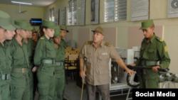 Cadetes en curso de la Escuela Militar Antonio Maceo