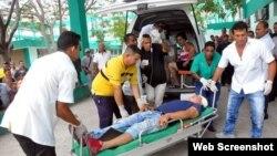 Accidente de tránsito ocurrido en provincia de Santiago de Cuba