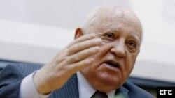 Mijaíl Gorbachev en una conferencia de prensa en Moscú en 2016.