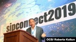Daniel Hadad, CEO de Infobae, durante su intervención en el evento SIPConnect 2019