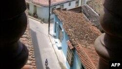 Vista de una calle en Camagüey, Cuba.