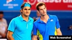 Federer (i) y Murray. Foto de archivo.