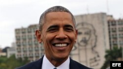 Obama en la Plaza de la Revolución
