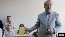 El primer ministro y candidato presidencial Tayyip Erdogan