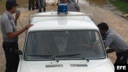 La policía cubana en acción.