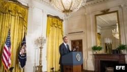 El presidente Barack Obama en la conferencia de prensa.