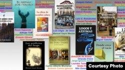 Libros publicados por escritores cubanos en Miami. Cortesía NeoClub Edic.