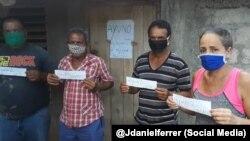 Activistas de la Unión Patriótica de Cuba en huelga de hambre.
