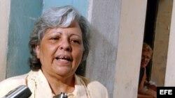 La opositora cubana Martha Beatriz Roque.