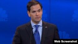 Marco Rubio durante el debate.