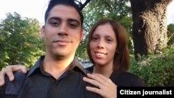 Carlos Amel Oliva y su esposa Katerine Mojena. (Archivo)