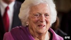 La exprimera dama de EEUU Barbara Bush. (Archivo)