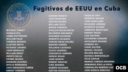 Lista de fugitivos de la justicia americana que encontraron refugio en Cuba.