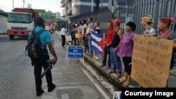 Refugiados cubanos sostendrán una reunión este viernes con representantes de ACNUR.