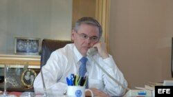 Robert Menéndez, senador demócrata. Foto: Archivo.