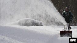 Tormenta de nieva en la region noreste de Estados Unidos