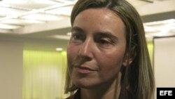 La jefa de la diplomacia de la Unión Europea, Federica Mogherini. Archivo.